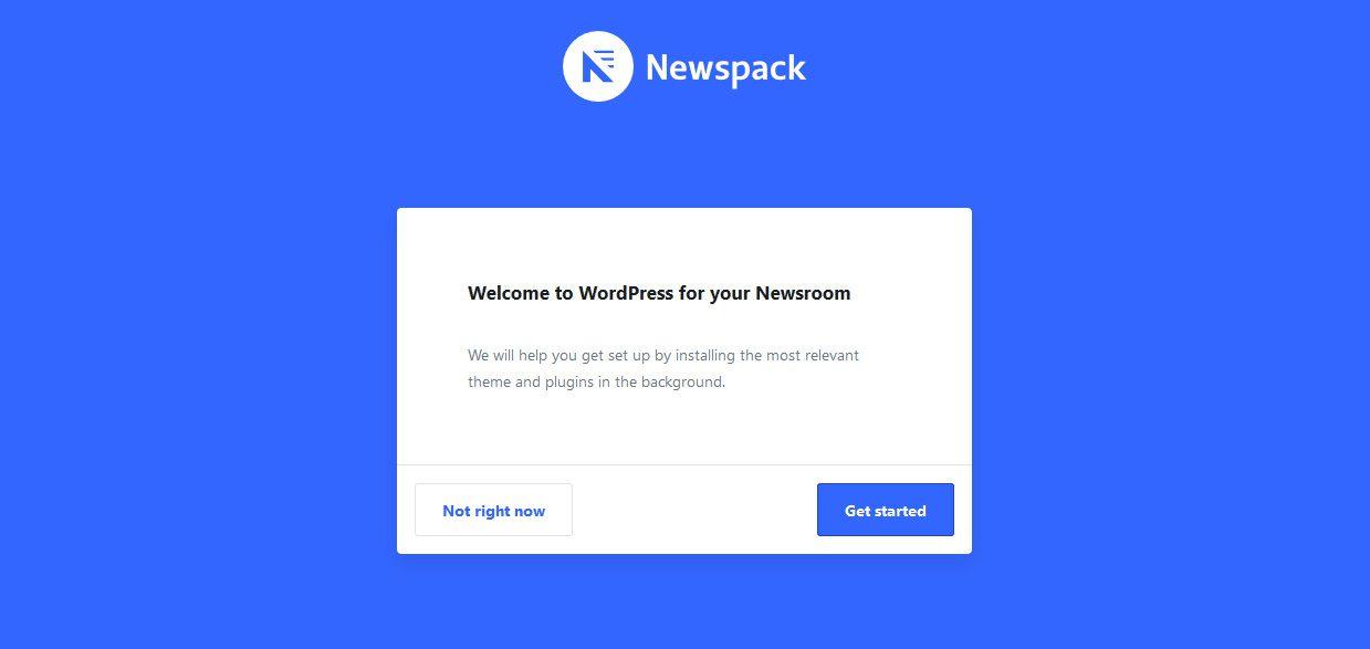 Newspack configuración