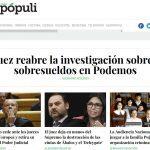 Portada del periódico Vozpópuli